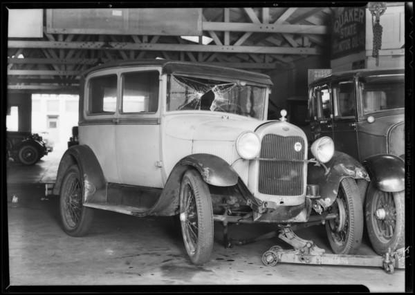 Ford Tudor sedan, General Garage, car registered to Carmen F. Wriggley, Santa Monica, CA, 1932