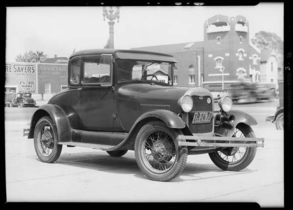 Ford coupe, R.L. Gabbard, owner, Southern California, 1932