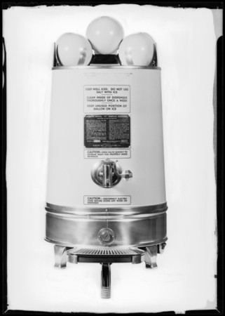 New dispensers, Mission Dry Corporation, Southern California, 1932