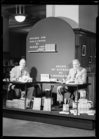 Authors, H. Bedford Jones and Homer Croy, Southern California, 1932