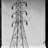Ornamental lights & power tower, Southern California, 1932