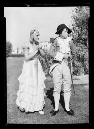 Girls in dress rehearsal, Southern California, 1932
