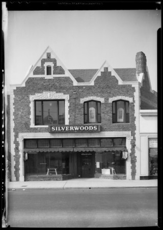 Exterior of University Avenue store, Los Angeles, CA, 1935