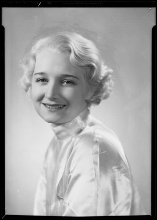 Portraits of Irma Coleman, Southern California, 1935