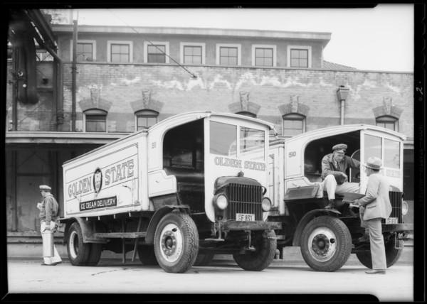 Hughes ice cream truck, Southern California, 1932