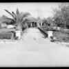 Driveway entrance, residence of George King, 7140 Van Nuys Boulevard, Van Nuys, CA, 1932