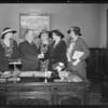 Mayor Shaw greets ladies from navy club, Los Angeles, CA, 1935