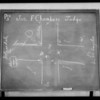 Blackboard, Judge Chambers' court, Southern California, 1932