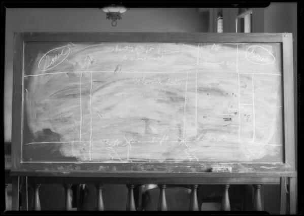 Blackboard, Mackay vs. Bennett, Southern California, 1932