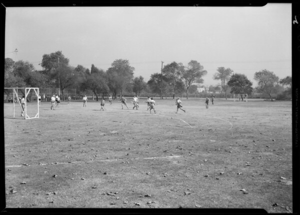 Girls hockey team at Griffith Park, Los Angeles, CA, 1932
