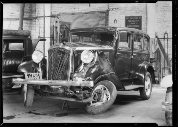 Plymouth sedan, Pacific Clay Products, assured, Southern California, 1932