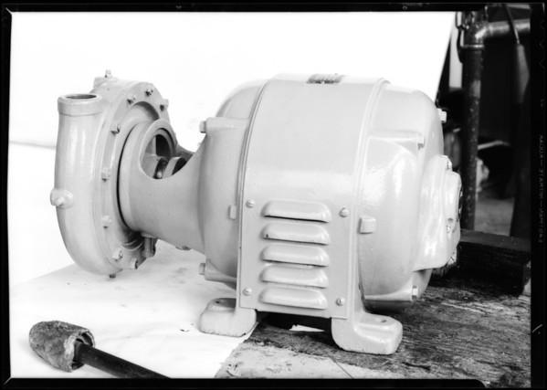 Pump motor, Southern California, 1932