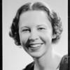 Girl smiling, Southern California, 1935