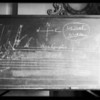 Blackboard, case-- De Paer vs. Weling, Southern California, 1932