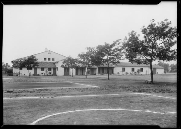 Poinsettia playground, Southern California, 1932