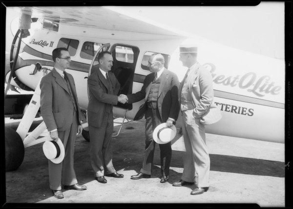 Prest-O-Lite ship and men, Glendale, CA, 1932