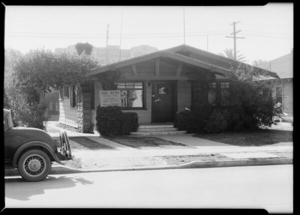 Albini residence, 5646 Virginia Avenue, Albini vs. May Company, Southern California, 1934