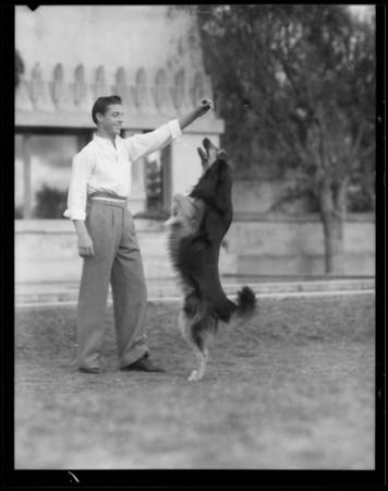 """Rex"" Stokey's dog, Southern California, 1935"