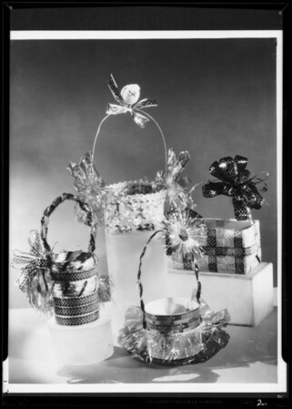 Easter baskets, Southern California, 1935