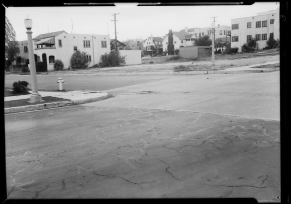 Intersection of South Rimpau Boulevard and West 21st Street, Los Angeles, CA, 1932