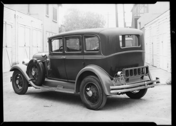 Moon sedan, Studebaker sedan, Myers assured, Southern California, 1932