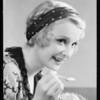 Girl eating ice cream sundae, Southern California, 1932