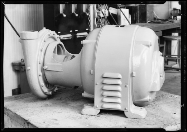Pump motor, Southern California, 1932