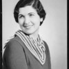Portrait of self, Nina Raphael, Southern California, 1935