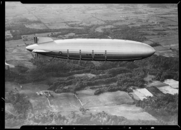 Zeppelin and tire & zeppelin composite, Southern California, 1932