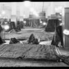 Display of oriental rugs in rug department, Southern California, 1932