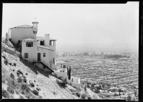 Hillside homes on Evans tract, Southern California, 1928