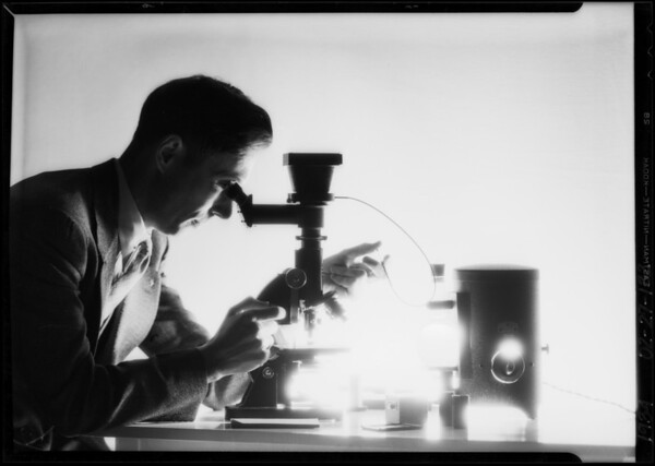 """""""Dick"""" at the microscope, Southern California, 1934"""
