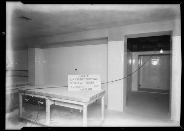 County Hospital, B.V. Collins Co., Los Angeles, CA, 1932