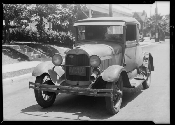 Ford coupe, Keystone Electric Co., A.M. Evans, driver, Southern California, 1931