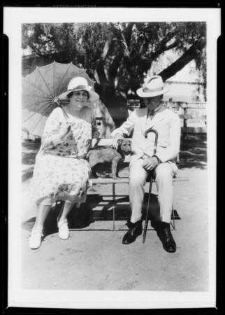 Mr. and Mrs. Bain at La Lomita Rancho, Lomita, CA, 1927