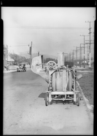 Truck with cement mixer on rear, assured John J. Bibb, Glendale, CA, 1933