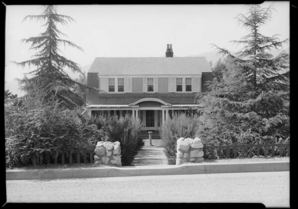 Culberson's home in La Crescenta, La Crescenta-Montrose, CA, 1927