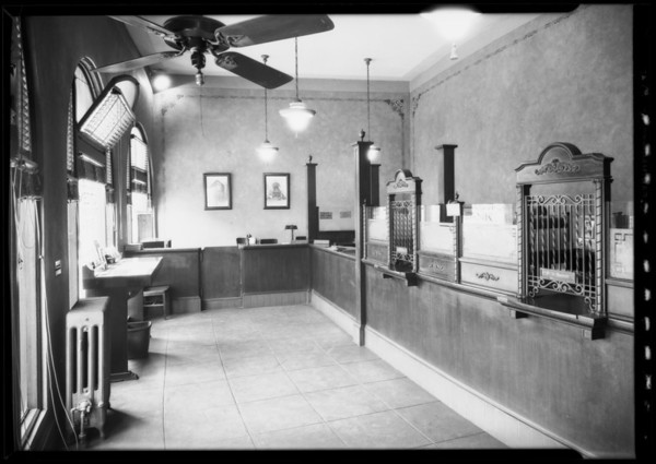 Branch at plaza, Citizens Trust & Savings, Southern California, 1927