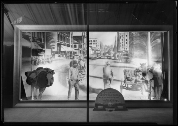 Broadway Department Store anniversary window display, Los Angeles, CA, 1926