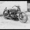 Motorcycle, Southern California, 1934