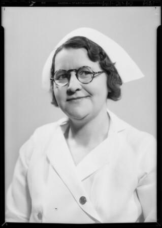 "Nurses, ""Baley week"", Southern California, 1934"