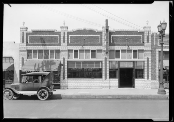 Citizens Trust and Savings, branch at 5415 Broadway, Southern California, 1927