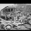 Street car & truck wreck on Cahuenga Pass, Los Angeles, CA, 1924