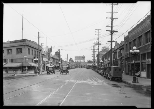 Street scene - West Pico Boulevard & Hoover Street, Los Angeles, CA, 1928