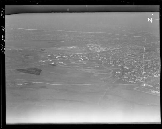 Air views of Leimert district, Southern California, 1929