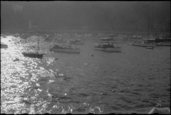 Harbor views, wake of ships, Santa Catalina Island, CA, [s.d.]