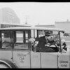 Yellow Cab driver training on Western Avenue, Southern California, 1926