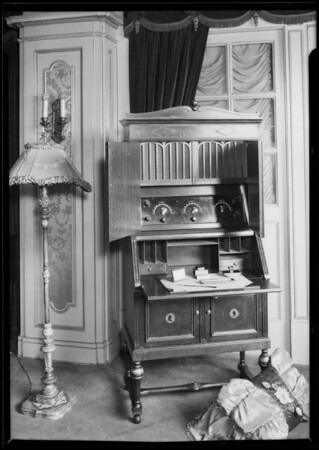 Radio cabinets for Echo Phone Co., Los Angeles, CA, 1925