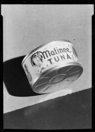 Matinee' tuna can, Southern California, 1933