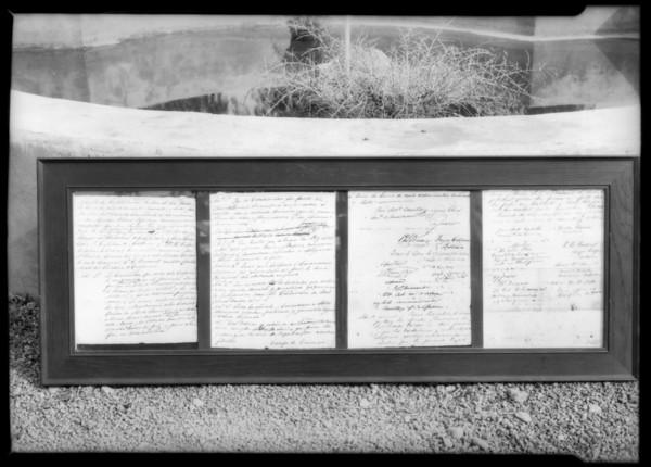 Treaty of Cahuenga, Southern California, 1927